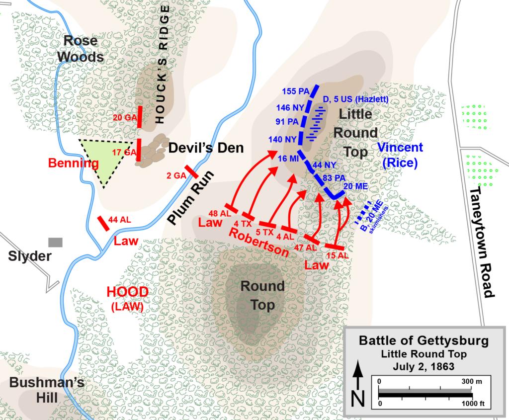 little round top battle map